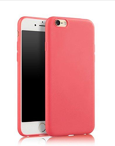 Demarkt Carcasa para iPhone 7 Plus de silicona TPU rosa rojo
