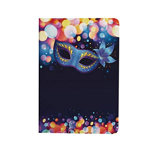 Venice Case Fit New iPad Air 4th Generation 2020- Vivid Blue Carnival with Ornate Flower and Colorful Dots Masquerade Tradition iPad 10.9 Case Lightweight Smart Shell Stand Cover for iPad 10.9 inch,