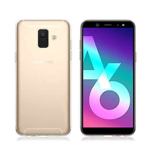 NEW'C Hülle für Samsung A6, [Ultra transparent Silikon Gel TPU Soft] Cover Case Schutzhülle Kratzfeste mit Schock Absorption und Anti Scratch kompatibel Samsung A6