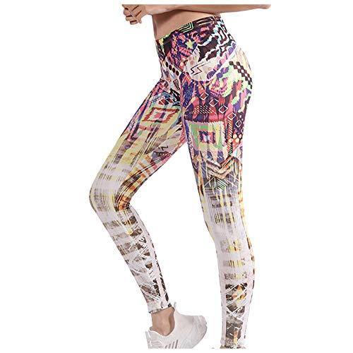 Butt Lifter Anti-Cellulite Yoga Hosen Damen Stretch Sport Yoga Leggings Modedruck High Taille Bauchkontrolle Kompressionshose Sporthosen Fitnesshose