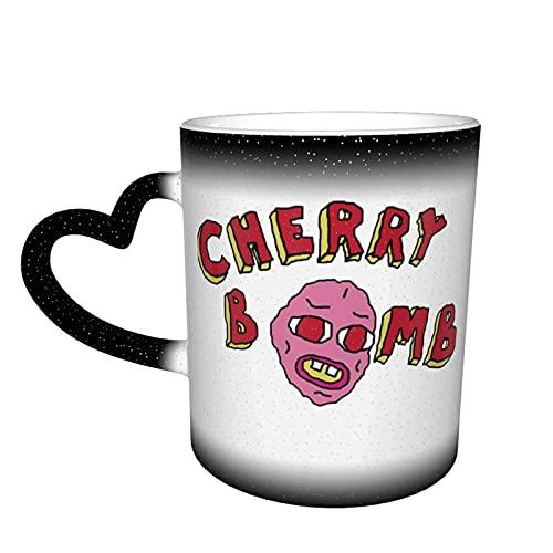 Cherry Bomb Tyler The Creator - Taza de café mágica de una pieza, color cambiante en el cielo, taza de cerámica sensible al calor