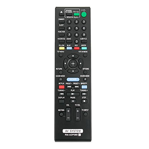 ZdalaMit RM-ADP069 Replace Remote Control Fit for Sony Audio Video AV System HBD-E580 BDV-N790W HB-DE3100 RM-ADP072 BDV-T58 BDV-T57 HBD-T79 HBD-E280