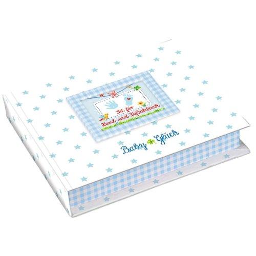 Set für Hand- und Fußabdruck BabyGlück, hellblau