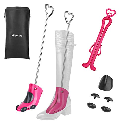 Miserwe Boot Stretcher with Boot Shaper Stands Professional One Way Shoe Stretcher for Boots Stretch Boot's Width for Women