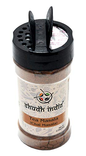 Shudh India | Tea (Chai) Masala Indian Spice Blend | All Natural | Vegan | Gluten Friendly Ingredients | Salt & Sugar Free | NON-GMO | No Colors | Indian Origin |