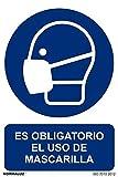 Normaluz RD26626 - Señal Adhesiva Es Obligatorio El Uso de Mascarilla Adhesivo de Vinilo ...