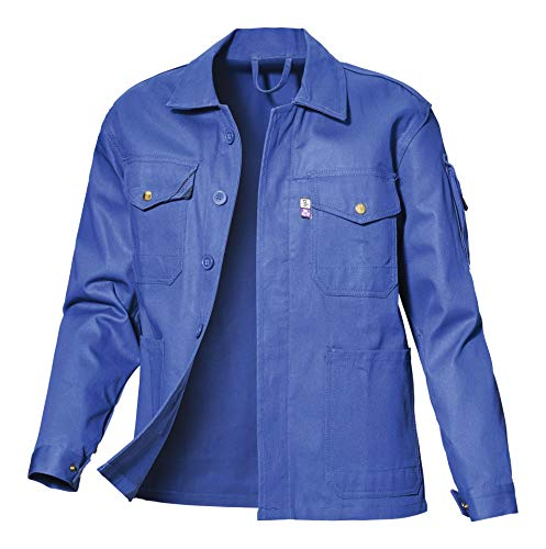 pka Herren Arbeitsjacke Star kornblau Übergrösse (66, kornblau) 66,kornblau