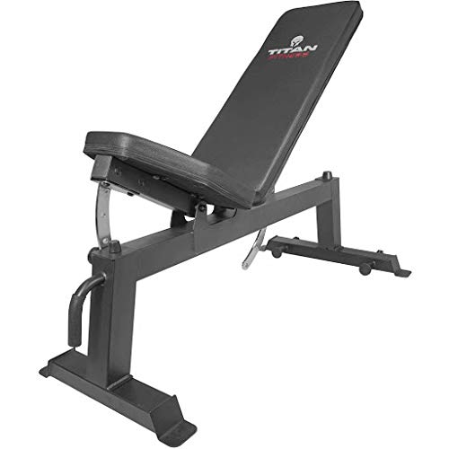 Titan Fitness Adjustable Flat Incline Weight Bench