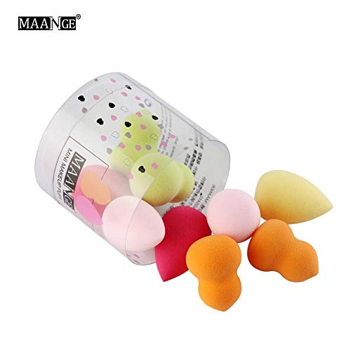 tidystore 10 Piezas Maquillaje Esponja Make-up Sponge Mini Esponja De Maquillaje Herramienta Cosmética para Cara Suave Y Cómodo Soplo De Polvo Suelto Lavable Y Reutilizable