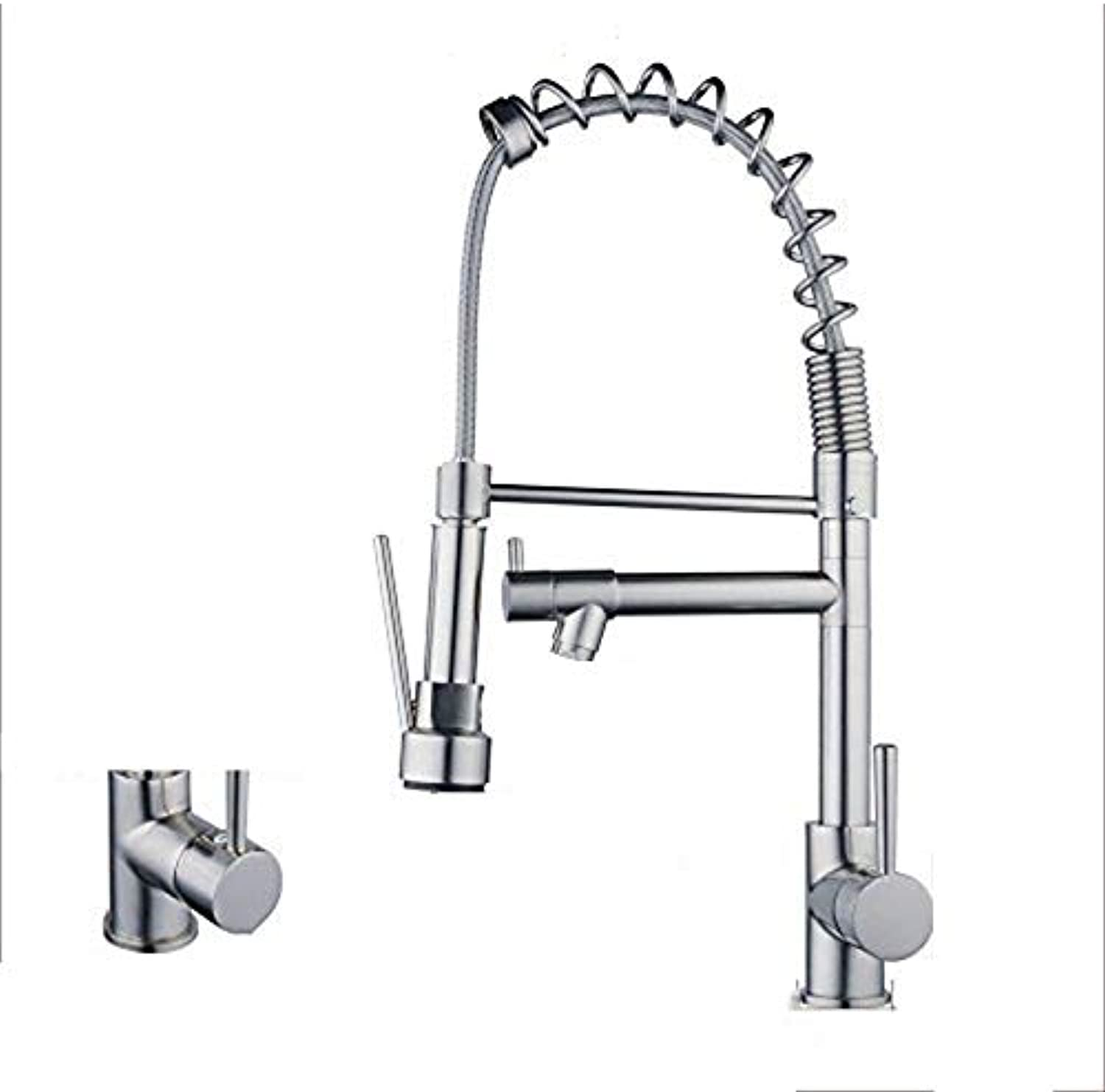 ZFXNB Pull Out Kitchen Faucet, Polished Chrome Kitchen Sink Mixing Faucet With redating Faucet 360° redating Spout Sink Kitchen Faucet Tap