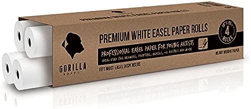 Easel Paper Roll 18 X 85ft, 4 Rolls Refill Case, 26# Wide Format