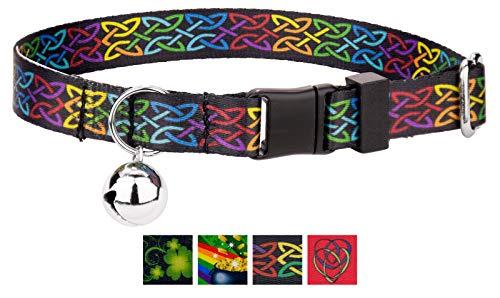 Country Brook Petz - Cat Collar - Irish Pride Collection - Irish Pride Collection with 4 Lucky Designs (Celtic Pride)