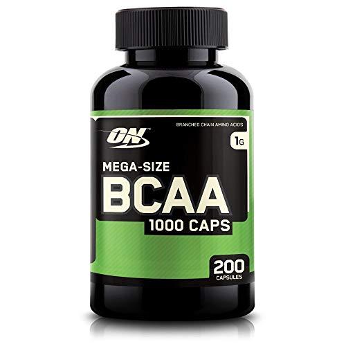 Optimum Nutrition BCAA 1000- Verzweigtkettige Aminosäuren (L-Leucin, L-Isoleucin und L-Valin. BCAA Ergänzungsmittel von ON) Unflavoured, 100 Portionen, 200 Kapseln