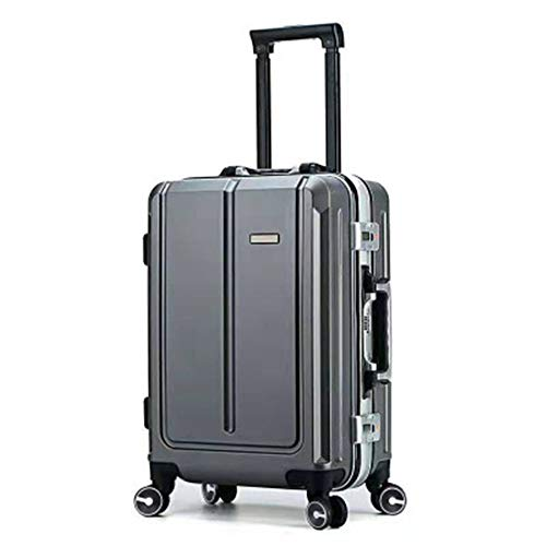 Luggage Aluminum Frame Suitcase Universal Wheel Retro Suitcase Password Board Case Trolley Case For travel and business trips (Color : C5, Size : 24inch)