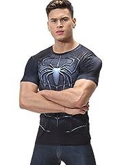 Cody Lundin Hombres Araña Negra Impresa Digital héroe Logo Camiseta Deporte Hombre Estilo Manga Corta Parte Superior