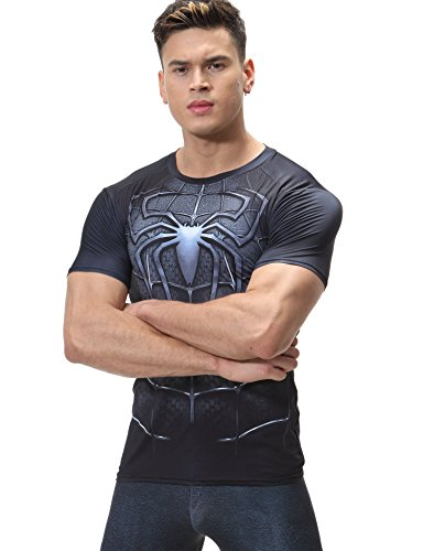 Cody Lundin Cody Lundin Film Version Superhelden Shirt Herren Sport Fitness Jogging Kompression T-Shirt Spider Held Engen T-Shirt