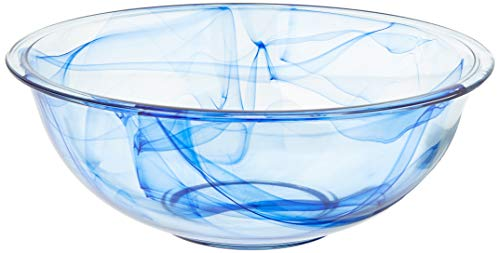 Pyrex mixing mixture craftsmanship. The artistry is evident s vivid swirls. And the bowl is crafted us, 9.2, Shades of Blue