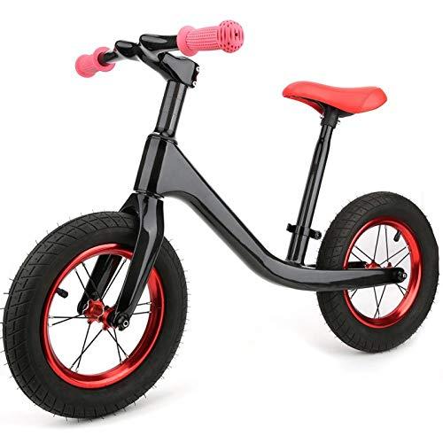 Pwshymi Bicicleta de Equilibrio de Metal Super Junior sin Bicicleta de Pedal para niños Ejercicio para Juegos Deportivos al Aire Libre(Matte)