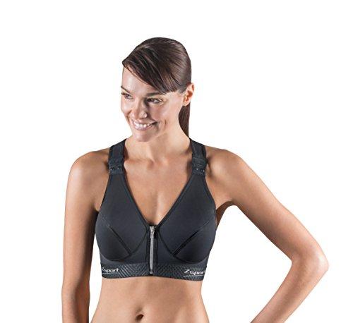 Zsport Zbra Silver Soutien-Gorge de Sport Femme, Noir, (Taille Fabricant : 90C)