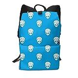 Homebe Blue Alien Art Head Rucksäcke,Daypack,Schulrucksack Für Jungen und Mädchen School Travel...