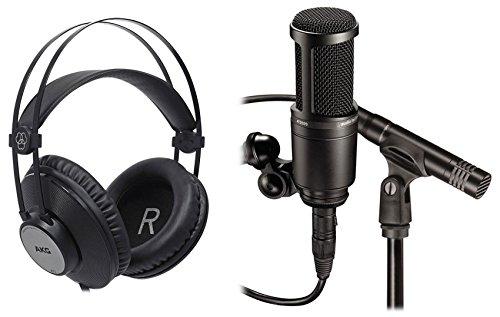 Audio Technica AT2041SP AT2020+AT2021 Studio Microphones Mics+AKG Headphones