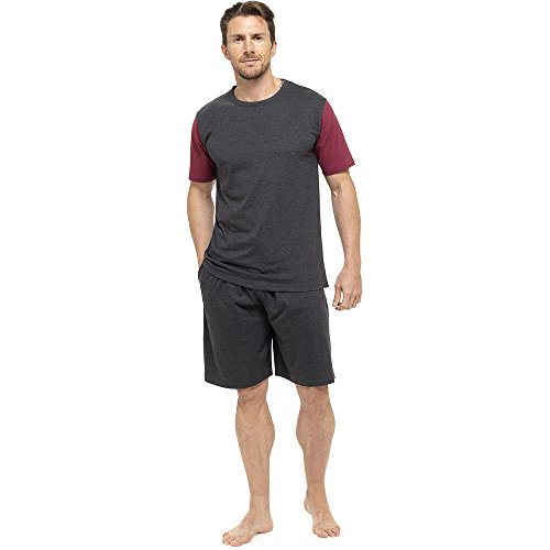 Mens T-Shirt Top & Shorts Pyjama...