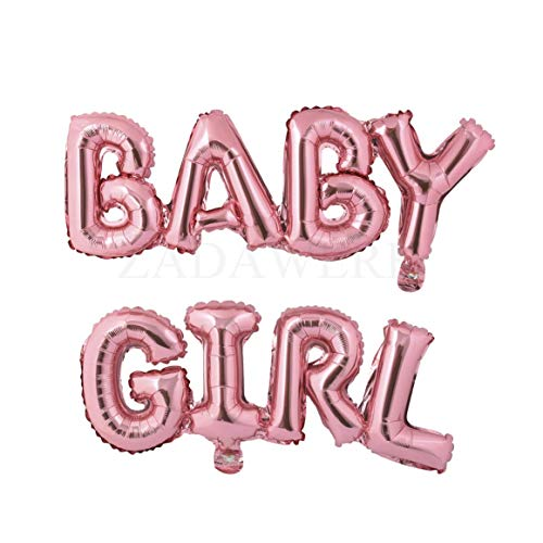 Miss Bakery's House® Ballon - Folie - Baby Girl - Pink - Deko Baby-Party