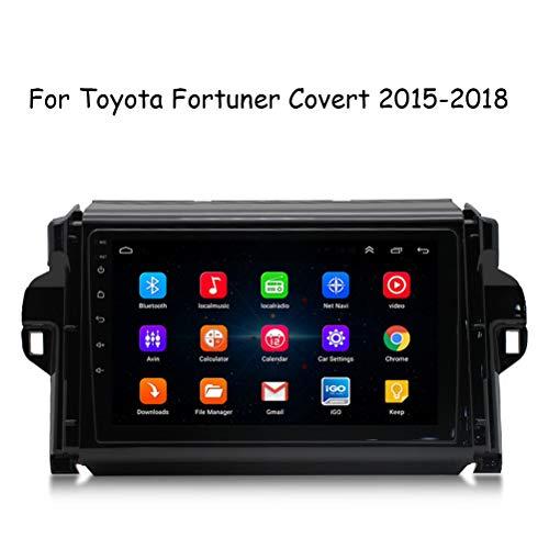 HP CAMP Android 8.1 GPS Navigation Radio, 9 Zoll Bildschirm Autoradio für Toyota Fortuner Covert 2015-2018, BT/Reverse Image/WiFi/FM/SWC/Musikvideowiedergabe,WiFi 1G+16G