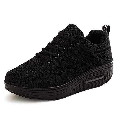 CXWRZB Donna Sneakers Piattaforma con Zeppa Palestra Walking Scarpe da Ginnastica