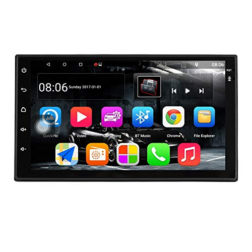 TOOGOO Android 7.1 Auto Radio 7 Zoll 1024X600 1080P Quad Core 2Din Android Kopf Einheit GPS Navigation Audio Radio 1G + 16G