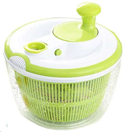 Salatschleuder Salattrockner Inklusive Salatschüssel Und Sieb Trocknet Den Salat Effektiv Schonend,Green1-OneSize