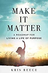 woman in field, arm in air, blue sky, make it matter book cover