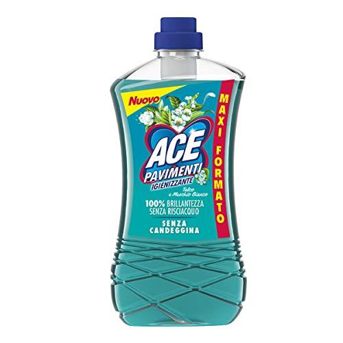 ACE Pavimenti Igienizzante Talco e Muschio Bianco, Senza Candeggina, Maxi Formato - 1300 ml