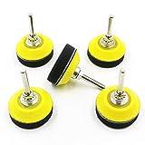50 mm gancio e anello di levigatura per dischi abrasivi in schiuma morbida, 5 confezioni