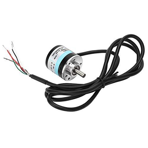 Codificador fotoeléctrico, ABZ trifásico DC5‑24V eje sólido, admite conexión de acoplamiento flexible, peso ligero, tamaño pequeño(600Z)