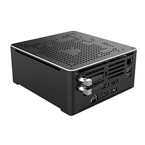 4K Mini PC,Desktop Computer,Intel Core I9 9880H,(Black),[HUNSN BY02],[WiFi/BT4.0/DP/HDMI2.0/TYPE-C/4USB3.0/2USB2.0/2LAN](Barebone,NO RAM DDR4, NO Storage,NO System)