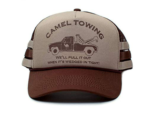 Camel Towing Co. Funny Hat Humor Rude Brown/Tan Cap Truckers
