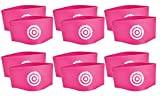 Unique Sports Lace Bands Neon Pink Soccer Cleat Lace Cover (6 Pair)