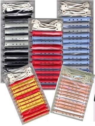 Dauerwellwickler Set - 2-farbig + FP Kosmetiktasche (60 Stck. 7-16 mm)