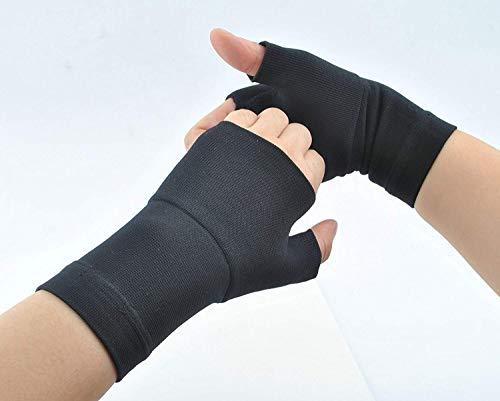 ZSZBACE Vendaje de muñeca para el túnel carpiano-ideal para la artritis, tendinitis tendón, muñeca y el dolor de pulgar 1 par (M, Black)