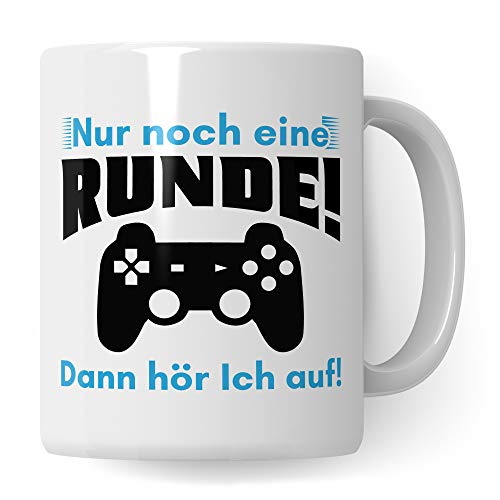 Pagma Druck Tasse Gamer lustig, Zocker Geschenke Spruch, Kaffeetasse Gaming Zocken Computerspiele Konsole, Controller PC Computerspielen Becher, Computer Gaming Tasse lustig