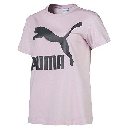 PUMA Damen T-Shirt Classics Logo, Winsome Orchid, XL, 576242