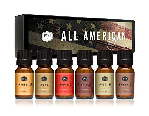 P&J Trading All- American Fragrance Oil Set for Candle Making, Soap Making, Slime, Diffusers, Home, and Crafts