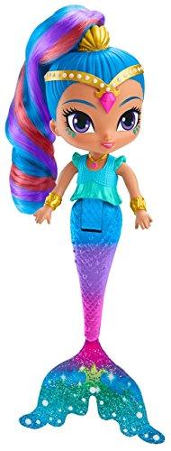 Shimmer and Shine Muñeca Shine Sirena mágica, juguete +3 años (Mattel FHN42)