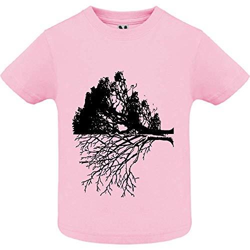 LookMyKase T-Shirt - Life and Death - Bébé Fille - Rose - 12mois