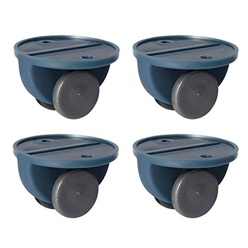 keebgyy Pack of 4 Plate Casters Wheels 30mm Self-Adhesive Furniture Storage Case Trash Can Casters No Noise No Scratch, Max 10 kg