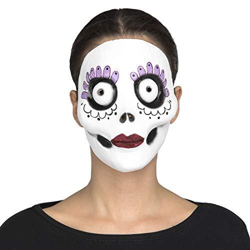 Desconocido My Other Me Máscara Catrina de Halloween Blanca de látex Talla única - LOLAhome