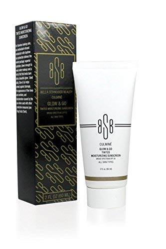 Bella Schneider Beauty Culmine Glow and Go Tinted Moisturizing Sunscreen, Blemish Concealer Balm, Dry Skin Remedy, Anti-Wrinkle Balm, Soften Fine Lines, Color Correcting, UV Protection, Anti- Aging