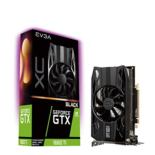 EVGA GeForce RTX 1660 Ti XC BLACK GAMING Scheda Video, 6GB GDDR6, Ventilatore HDB
