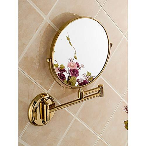 Wall-Mounted Mirrors Specchio da Bagno Specchio per Trucco da Parete, Specchi da Barba , Estensibile a Doppia Faccia Girevole a 360 ° Pieghevole Estensibile, 6 Pollici / 8 Pollici, Due Colori